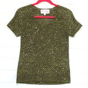 🌵 Juniors Philosophy Greenish Gold Top Size Small